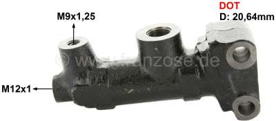 Citroen-2CV Master brake cylinder, brake system DOT. Single circuit brake system. Suitable for Citroen
