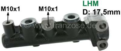 Citroen-2CV Master brake cylinder, brake system LHM. Dual circuit brake system. Suitable for Citroen M