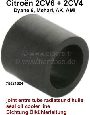 Citroen-2CV Oil cooler line seal, from rubber. Per piece! The rubber seals the oil cooler line in the