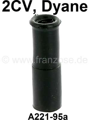 Citroen-2CV Engine oil dipstick rubber application above in the guide tube. (Fixture + guide rubber en