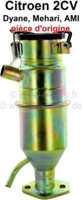 Citroen-2CV Oil filler neck for 2CV6. (contain crank house exhausting). Original Citroen, no reproduct