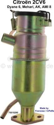 Citroen-2CV Oil filler neck for Citroen 2CV6. (contain crank house exhausting). Own reproduction, Made