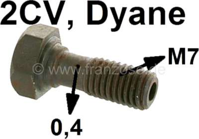 Citroen-2CV Oil line hollow bolt 2CV6, M7, for the connector at the cylinder head (small bore 0,4mm).