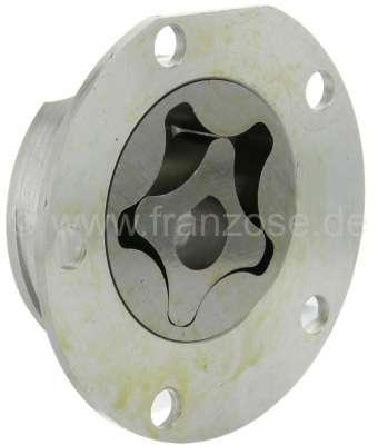 Citroen-2CV Oil pump for 2CV6, reproduction, inclusive Aluminum casing. Pump impeller is 10.5 mm heavi