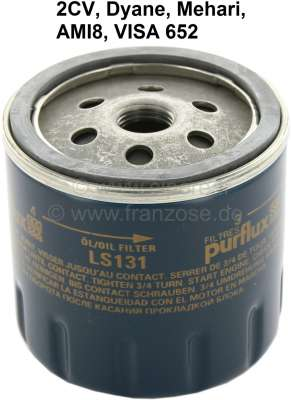 Citroen-2CV Oil filter for Citroen 2CV. Original supplier (GL231/LS131). (No reproduction). Suitable f