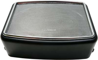 Renault Square surface speaker with chrome-plated cover. Universal fitting. Per piece. Outer dimen