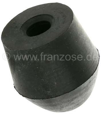 Citroen-2CV Rubber stop buffer for the radius arm, rear in the wheel housing. Conically. Suitable for