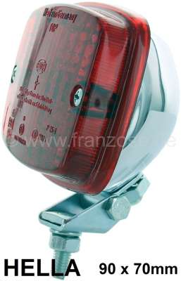 Citroen-2CV Fog tail light, manufacturer Hella. Chromed metal housing. Universal fitting.