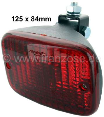 Citroen-2CV Fog tail light, reproduction. The case is from synthetic. Universal fitting. Wide one: 125