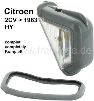 Citroen-2CV License plate light completely, centrically ( separable license plates), for Citroen 2CV t