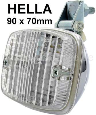 Citroen-2CV Reversing lamp, manufacturer Hella. Chromed metal housing. Universal fitting.