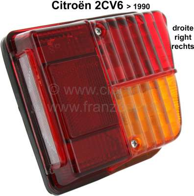 Citroen-2CV Tail lamp at the rear right. Suitable for Citroen 2CV, to year of construction 1990. Very