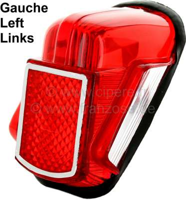 Citroen-2CV Taillight cap on the left, suitable for Citroen 2CV to year of construction 1964 (diagonal