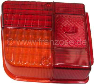 Citroen-2CV Taillight cap on the left, reproduction, for Seima light. The caps are supplied without te