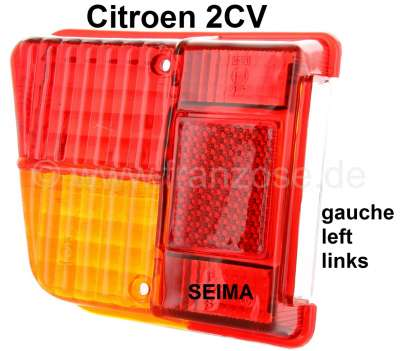 Citroen-2CV Taillight cap on the left, for