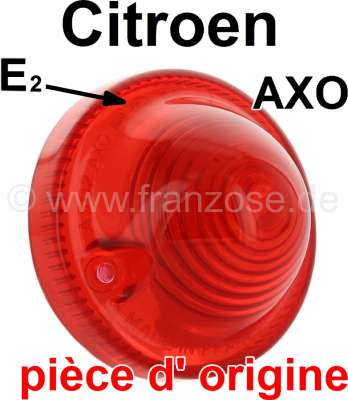 Citroen-2CV Taillight cap red (original AXO, with