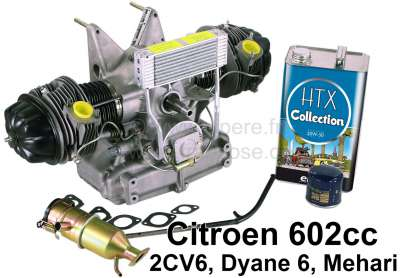 Citroen-2CV Engine for Citroen 2CV6, in the exchange. Without contact box! Inclusive new oil filler ne