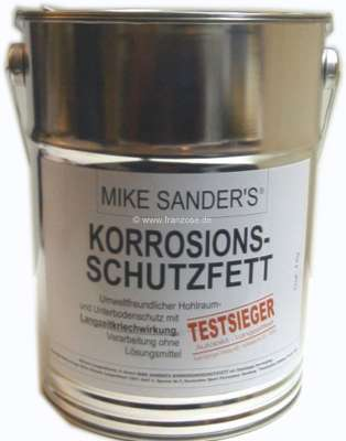Citroen-2CV Semi-fluid grease 4kg, for preserving the cavity, Mike Sander - corrosion inhibitor !