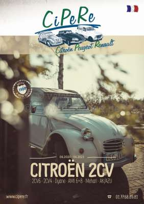 Citroen-2CV 2CV catalog 2020. French! 368 pages! Complete catalog Cipere with illustrations and prices