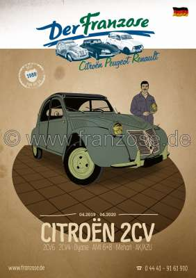 Citroen-DS-11CV-HY German Catalogue 2CV 2019, 384 pages