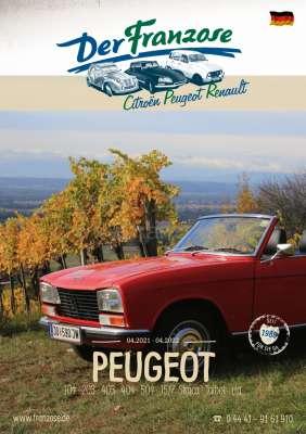 Citroen-2CV Peugeot catalogue 2020, in german.