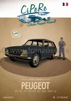 Citroen-2CV Peugeot catalog 2019. 320 pages, French. Complete catalog