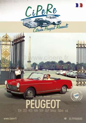 Citroen-2CV Peugeot catalog 2020. 320 pages, French. Complete catalog