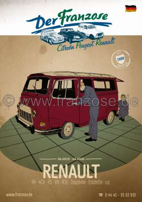 Citroen-2CV Renault catalogue 2019, german. 336 pages.