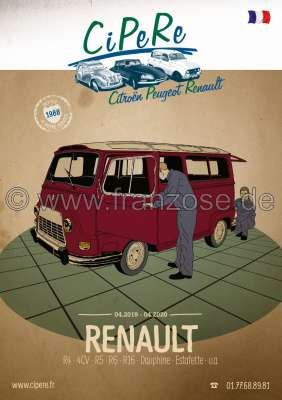 Citroen-DS-11CV-HY Renault catalog 2019, 320 pages, French. Complete catalog