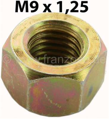 Citroen-2CV M9, nut M9x1,25. For example securement drive shaft at the gearbox for 2CV. Amount: 9mm.