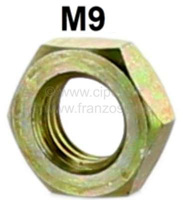 Citroen-2CV M9, nut M9x1,25. Low (flatten) version. Amount: 5mm.