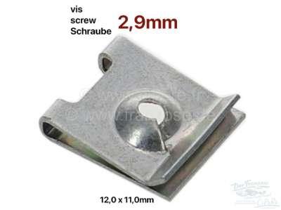 Sonstige-Citroen Sheet metal nut, 2,9. For sheet metal driving screw with 2,9mm core diameter. Dimension: 1
