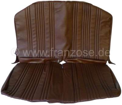 Citroen-2CV AMI8, seat cover in front, from vinyl. Color: brown. Suitable for Citroen AMI8.