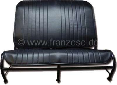 Citroen-2CV 2CV old, seat bench cover in front, from vinyl. Color black. The sides are open. Made in F