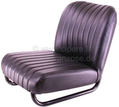 Citroen-2CV Seat on the left completely, vinyl black (new part). Suitable for Citroen Mehari.