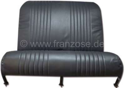 Citroen-2CV 2CV, seat bench cover in the rear. Vinyl black. The sides are closed. Made in France.