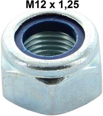 Citroen-2CV Nut lock M12 x 1,25. Installed at shock absorber pins Citroen 2CV + at the tie rod of Citr