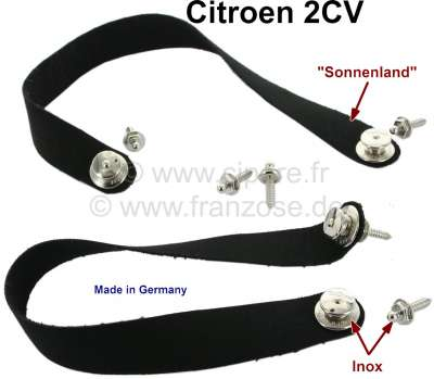 Citroen-2CV 2CV, Soft top hood, holding strap (2 fittings) from