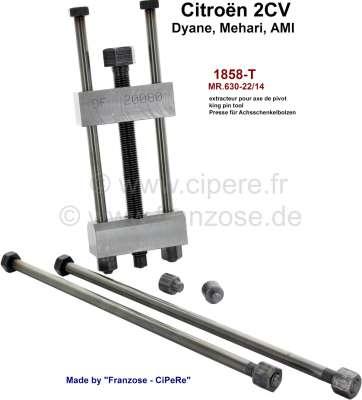 Citroen-2CV King Pin tool, manual pressing version . Suitable for 2CV, Dyane, Mehari, Ami. Made by Fra