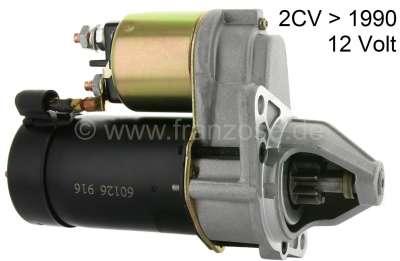 Citroen-2CV Starter motor, suitable for Citroen 2CV6. New part! 9 teeth. 12 V. Installed from year of