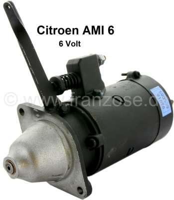 Citroen-2CV Starter motor AMI6, 6 V. The starter button lever indicates to the left (when the starter