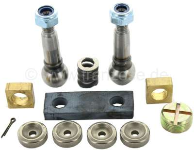 Citroen-2CV Steering gear repair set for the tie rod guide. Suitable for Citroen 2CV. Consisting of: P