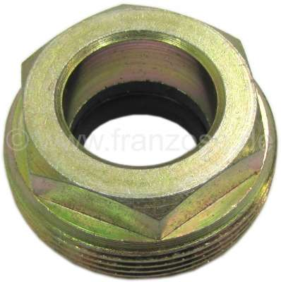 Citroen-2CV Steering worm nut with sealing ring. Suitable for Citroen 2CV starting from year of constr