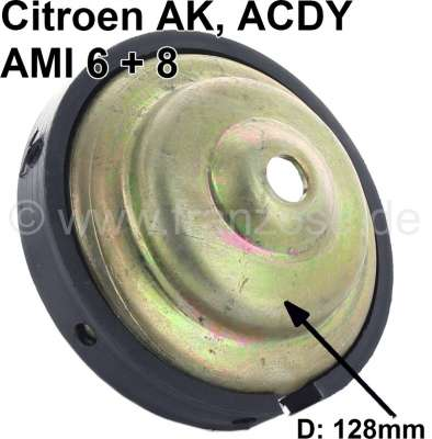 Citroen-2CV Friction disk (plate) for the large suspension pot.  About 128mm diameter. Suitable for Ci