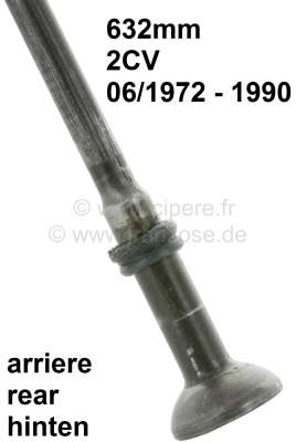 Citroen-2CV Suspension pot hinged tie bar long. (632mm, for the rear axle). Suitable for 2CV starting