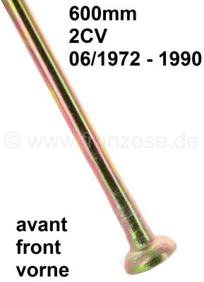 Citroen-2CV Suspension pot hinged tie bar short. (600mm, for the front axle). Suitable for 2CV startin