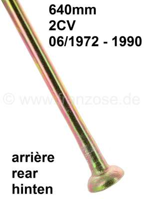 Citroen-2CV Suspension pot hinged tie bar long. (640mm, for the rear axle). Suitable for 2CV starting