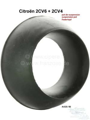 Citroen-2CV Rubber stop at the suspension pot (for small suspension pot). Suitable for Citroen 2CV4 +