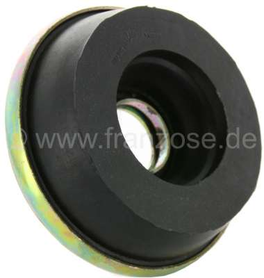 Citroen-2CV Rubber stop with metal plate, at the suspension pot (for large suspension pot). Suitable f