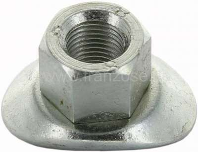 Citroen-2CV Wheel nut short, galvanized, suitable for Citroen 2CV, Dyane, Mehari, AMI. Measurement: M1
